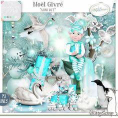 Noël Givré mini kit de kittyscrap