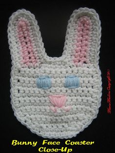 Ravelry: Crochet Easter Bunny Face Coaster, Basket Tote and Purse pattern by Maria Merlino