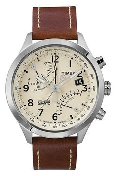 Timex 'Intelligent Quartz' Fly-Back Chronograph Watch, 43mm