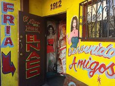 Just some of the many girls you will meet inside! Kitsch, Back Bar Design, Mexican Bar, Paint Font, Dive Bar, Mural Wall Art, Hand Painted Signs, Images, At Least
