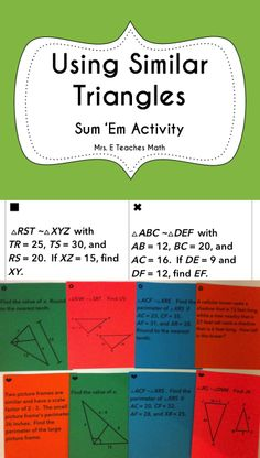 Using Similar Triangles Sum Em Activity - My students actually work the whole class period when I use Sum Em activities. Teaching Activities, Math Resources, Teaching Math, Teaching Ideas, 6th Grade Math Problems, 8th Grade Math, Math Teacher, Math Classroom, Classroom Ideas