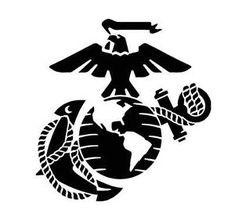 USMC Marine Corps Eagle Anchor Globe Stencil for Painting Cerakote DuraCoat DIY   eBay
