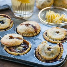 Mince pies with homemade mincemeat & brandy butter