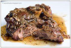 Slow Roasted Lamb; Slow Roasted Lamb; lamb; onion; garlic; rosemary; juniper berries; recipe; lamb recipes; easy; fast; healthy; Spicie Foodie; beef alternative; lamb shoulder; cordero asado; romero; recetas
