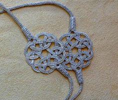#Kette aus #Silber #Kordel mit #Endlosknoten und #Anhänger, #Silber-Draht Kunst aus #Trabzon, #Kazaaz