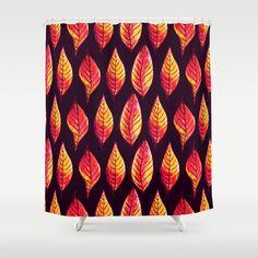 Vibrant autumn leaves pattern Shower Curtain by borianagiormova Custom Shower Curtains, Autumn Leaves, Vibrant, Pattern, Stuff To Buy, Products, Fall Leaves, Patterns, Autumn Leaf Color