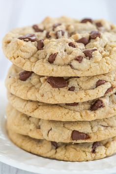 Large, bakery-style thick and chewy chocolate chip cookies that stay soft for days - a family favorite!