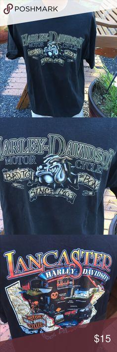 "Harley Davidson Mens T Shirt  XL ""Bad to the Bone"" Size XL. Mens. Gently preowned Harley-Davidson Shirts Tees - Short Sleeve"