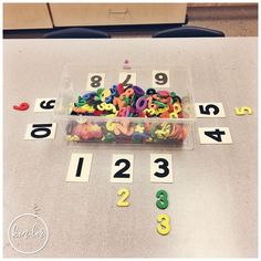 A Pinch of Kinder - Sorting Centre - Can You Sort by Number? - Preschool Math - A Pinch of Kinder – Sorting Centre – Can You Sort by Number? Numbers Kindergarten, Numbers Preschool, Math Numbers, Preschool Classroom, Preschool Activities, Decomposing Numbers, Montessori Preschool, Montessori Elementary, Kindergarten Centers