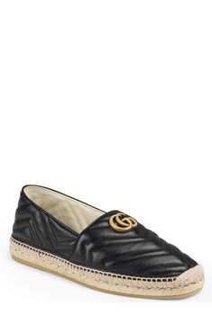 Mens Gucci Alejandro Quilted Espadrille Size / Black - Mens Gucci - Ideas of Mens Gucci - Men's Gucci Alejandro Quilted Espadrille Size / Black Espadrilles Outfit, Leather Espadrilles, Me Too Shoes, Gucci Fashion, Fashion Shoes, Fashion Brands, Teacher Shoes, Dream Shoes, Espadrilles