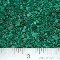 Crushed Malachite -Large Sand - 100% Natural Stone Without Fillers