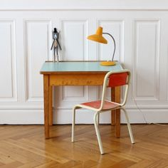 Fabulous Vintage Kids Desk With Lovely Colours