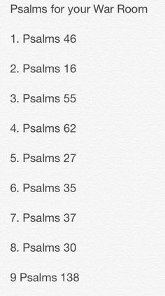 Bible Verses to Live By:Psalms for your war room Prayer Scriptures, Bible Prayers, Prayer Quotes, Bible Quotes, Bible Verses, Prayer Closet, Prayer Room, Prayer Wall, Prayer Board