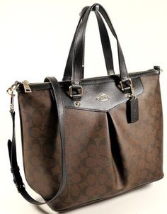 Coach Tote in Black and Brown