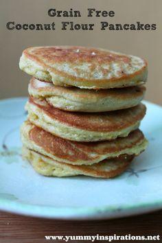 Grain Free Coconut Flour Pancakes (GAPS, Paleo)
