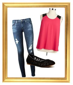 Untitled #44 by lizzieshackley on Polyvore featuring polyvore fashion style BB Dakota AG Adriano Goldschmied Lucky Brand clothing