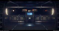 ArtStation - Star Citizen...The Starfarer: Cargo Bay control room and connecting corridors , Matthew Trevelyan Johns