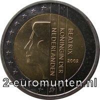 Normale 2 Euromunt van Nederland met het Silhouet van Koningin Beatrix