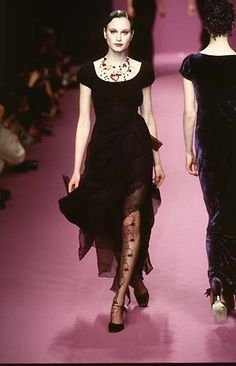Lolita Lempicka: RTW Fall 1997 Modern Fashion, High Fashion, Fashion Trends, Lolita Lempicka, Style Me, Goth, Runway, Costumes, Outfits
