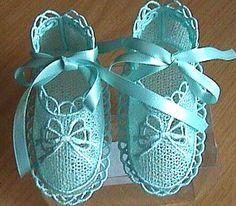 Machine Embroidery Free Standing Lace bootees, sooooo cute