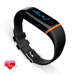 Fitness Tracker QYEE Heart Rate Monitor Waterproof Sports Wristband Watch for Android 43 IOS 71 or Above * Click image to review more details.