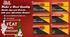 BLET provides an early Gift on this #Christmas & #newyear with a Golden Chance of #Heavydiscount. #Flat40% in #mobileapp #websitedevelopment #webdesign #seo #digitalmarketing