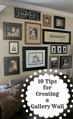Picture arrangement Wall Groupings, Frames On Wall, Picture Arrangements On Wall, Picture Groupings, Wood Frames, Wall Of Family Photos, Family Picture Walls, Pictures On Wall Living Room, Displaying Photos On Wall