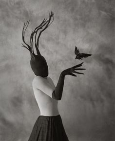 This item is unavailable Intuition - Fine Art Surreal Mask Black White Bird Crow Strange Odd Portrait Glove Antlers Horns Woman Dream Conceptual Raven Photography Raven Photography, Surrealism Photography, Fine Art Photography, Photography Women, Conceptual Photography, Exposure Photography, Abstract Photography, Experimental Photography, Winter Photography