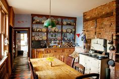 The main kitchen of this home is largely original, featuring a cream oil-fueled AGA cooker dating back to the 1930s.   Source: House Hunting in ... England - NYTimes.com