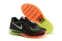 Nike Air Max 2014 LG Sort Grøn Orange Herresko