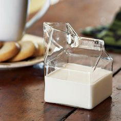 Glass Carton for Milk & Cream.