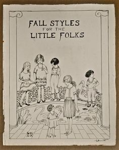 Original 1920's Fashion Illustration For Children by JillianTee, $20.00 Sold