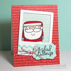 Adorable Card using Paper Smooches Stamps -- SeaGlass Papercrafts: The 12 Kits of Christmas--October