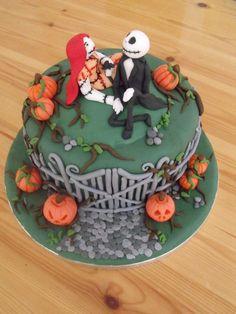 nightmare before christmas halloween cake  Cake by cakesbyzoe
