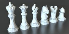 3D Printed Faceted Chess Set Designed | Thomas Davis