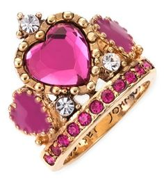 Betsy Johnson pink tiara ring. Research Provided By: | The House of Beccaria #