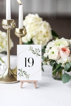 Wedding Table Number Cards The Andrea Suite Rustic Wedding