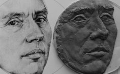 Rough clay start for bas relief portrait