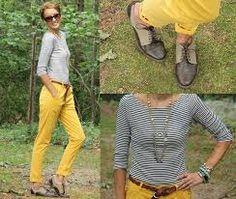 combinar pantalones amarillos - Buscar con Google