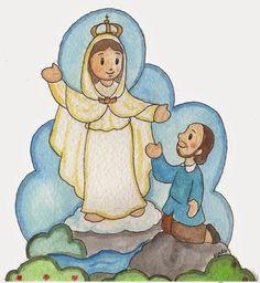 Mis ilustraciones: Primera Aparición de María, Nuestra Señora de la M...