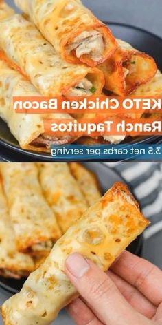 Keto Foods, Keto Recipes, Diabetic Recipes, Vegetarian Recipes, Chicken Bacon Ranch, Keto Chicken, Poulet Keto, Lard, Barbacoa