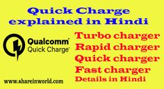 Quick charging ya Fast charging technology Kya hai, Turbo charger, Rapid charger, Quick charger and Fast charger etc,Quick charge ki all details hindi me