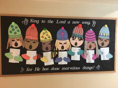 My December 2018 Christmas school – church bulletin board. Psalm Sing to Lor… My December 2018 Christmas school – church bulletin board. Psalm Sing to Lord a new song for he has done marvelous things. Catholic Bulletin Boards, December Bulletin Boards, Christian Bulletin Boards, Science Bulletin Boards, Winter Bulletin Boards, Library Bulletin Boards, Classroom Bulletin Boards, Classroom Door, Bulletin Board Ideas For Church
