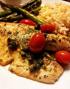 Someone shared my Mediterranean pan seared tilapia recipe today on Pinterest, exciting!