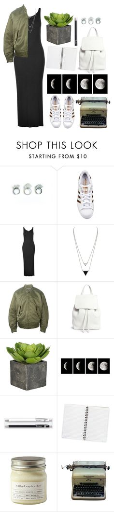 """""""Made in the USA"""" by living-on-the-catwalk ❤ liked on Polyvore featuring adidas Originals, Topshop, House of Harlow 1960, Mansur Gavriel, Unison, Brooklyn Candle Studio and Remington"""