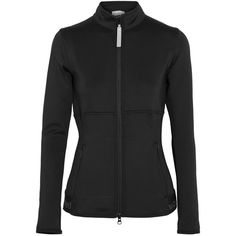 Adidas by Stella McCartney The Midlayer Climalite stretch-jersey... (1.045 DKK) ❤ liked on Polyvore featuring activewear, activewear jackets, black, logo sportswear, adidas, stretch jersey, adidas activewear and adidas sportswear