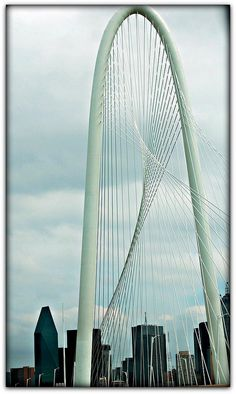 Margaret Hunt Hill Bridge near downtown Dallas TX :) And Trinity Groves! Dallas, Texas Pride, Visit Dallas, Trinity River, Texas Weather, Texas Travel, City Break, Covered Bridges, Usa