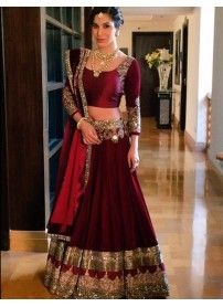 New Arrival Maroon Color Lehenga Choli By Kmozi..  http://www.kmozi.com/bollywood-replica/online-shopping-bollywood-actress-lehenga-choli/new-arrival-maroon-color-lehenga-choli-by-kmozi-1302