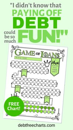 Game of Loans – Debt Free Charts Personal Goals, Personal Finance, I Wish You Well, Debt Tracker, Free Charts, How Can I Get, Budget Binder, Local Library, My Credit