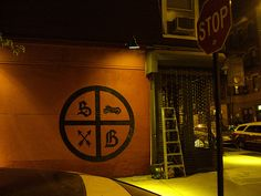 smith and butler logo painted on their wall